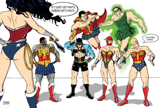 WW JLA costumes